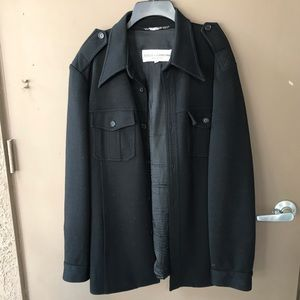 Dolce & Gabbana black wool military jacket